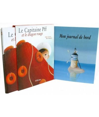 Le Capitaine Pff et le dragon rouge par Didier Sustrac et Éric Puybaret - Coffret avec Album + Journal de bord