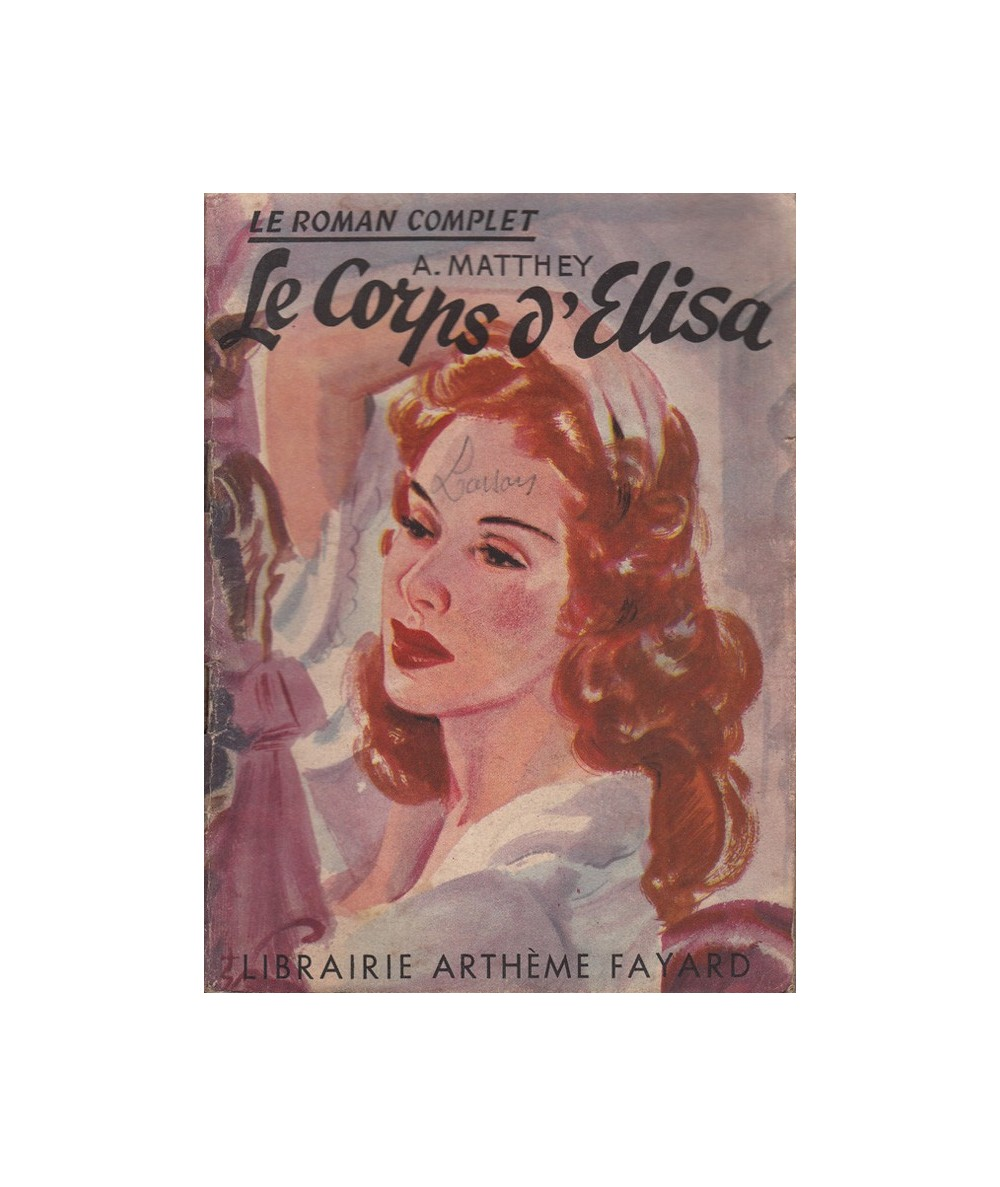 N° 1 - Le corps d'Elisa (A. Matthey)