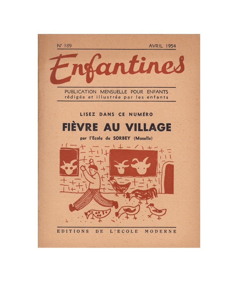 N° 189 - Fièvre au village par les enfants de l'Ecole de Sorbey