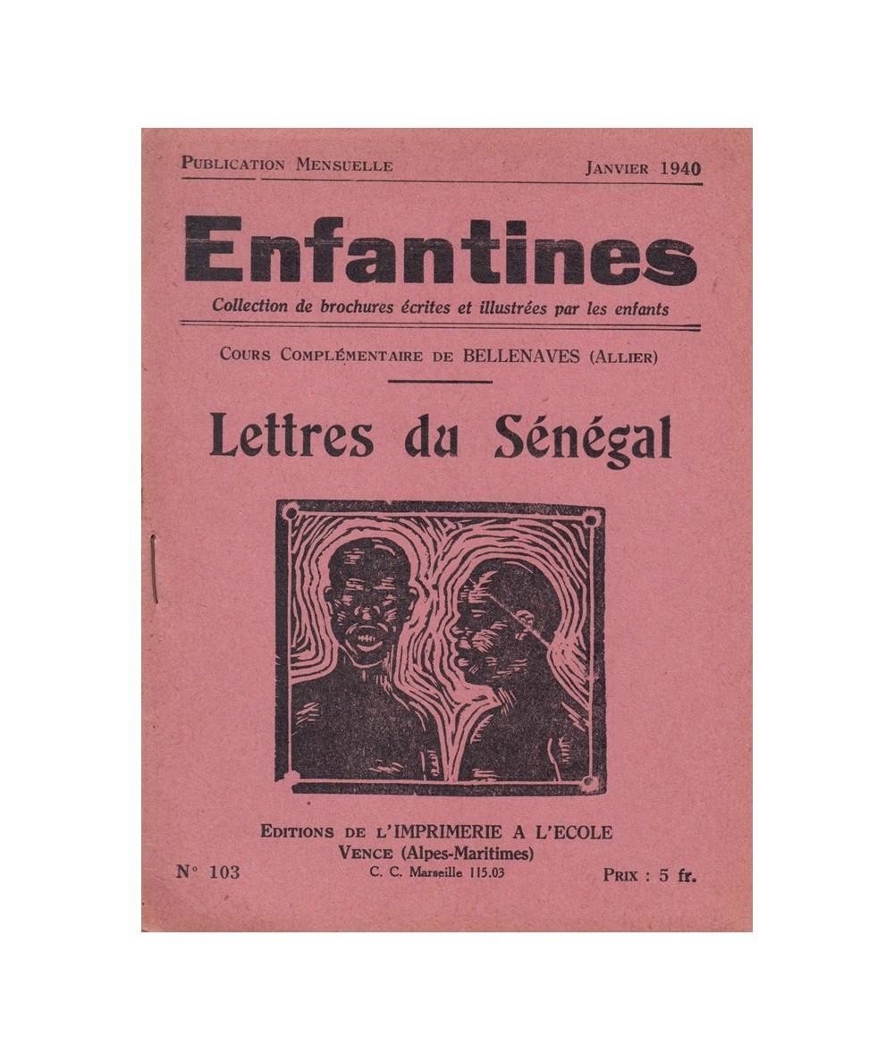 N° 103 - Lettres du Sénégal par les enfants du Cours Complémentaire de Bellenaves