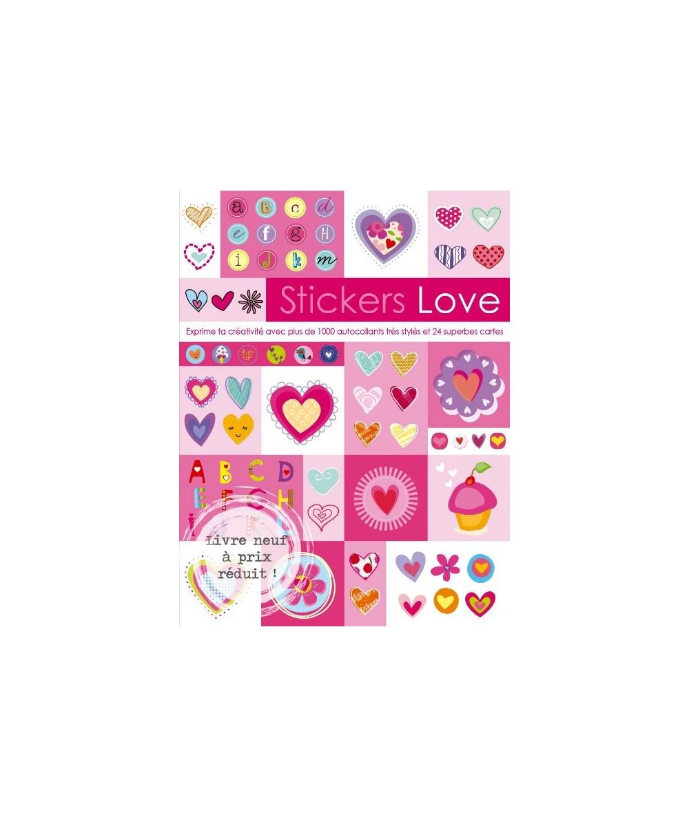 Stickers Love - 1000 autocollants et 24 cartes
