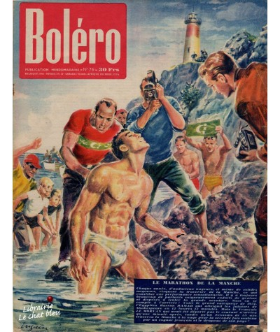 Revue Boléro N° 76 paru en 1951 - Le marathon de La Manche