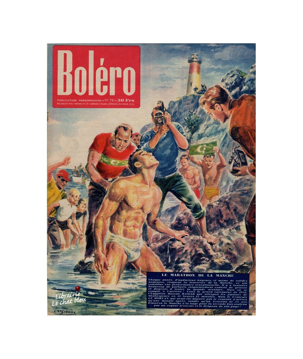 Boléro N° 76 paru en 1951 - Le marathon de la Manche