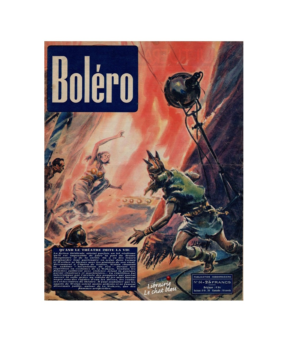 Boléro N° 64 paru en 1951 - Quand le théâtre imite la vie