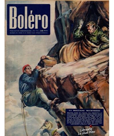 Revue Boléro N° 74 paru en 1951 - La montagne meurtrière