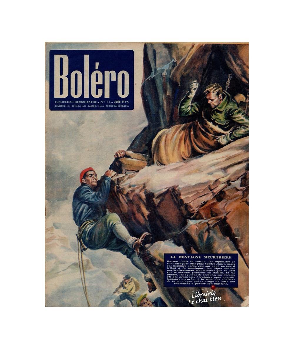 Boléro N° 74 paru en 1951 - La montagne meurtrière