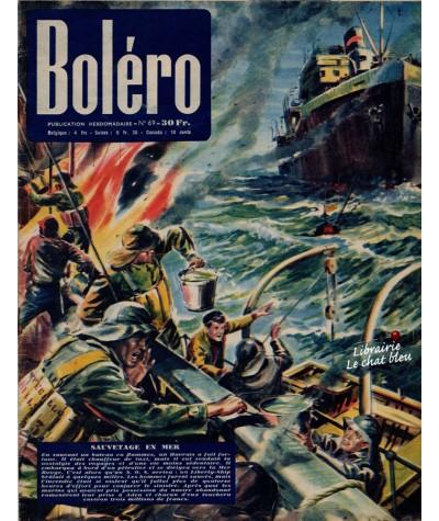 Revue Boléro N° 69 paru en 1951 - Sauvetage en mer