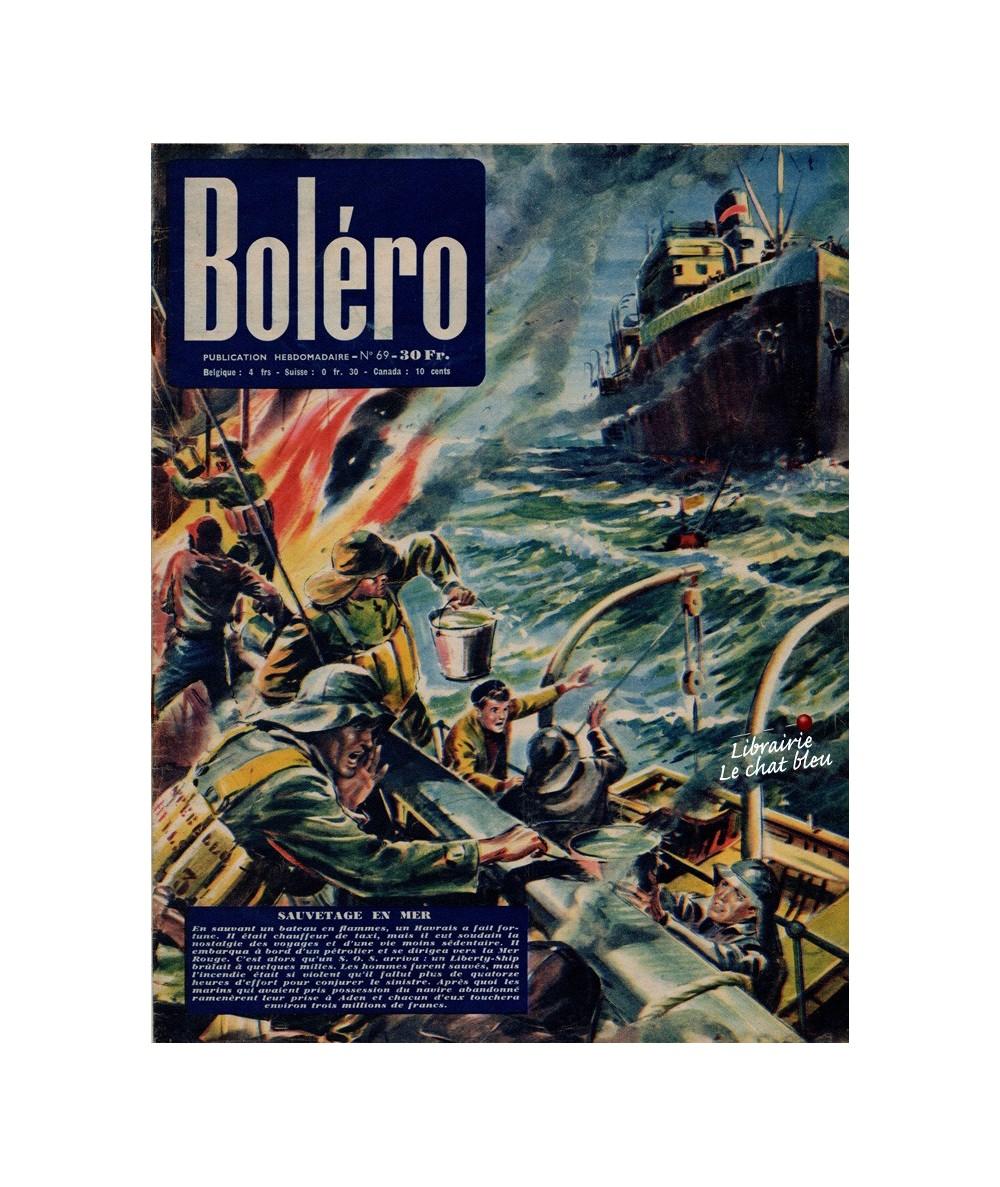 Boléro N° 69 paru en 1951 - Sauvetage en mer