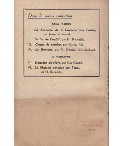 Le remous (M. Démians d'Archimbaud) - Collection Roseline N° 4