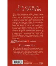 Les vertiges de la passion (Elizabeth Hoyt) - La légende des quatre soldats - J'ai lu N° 9162