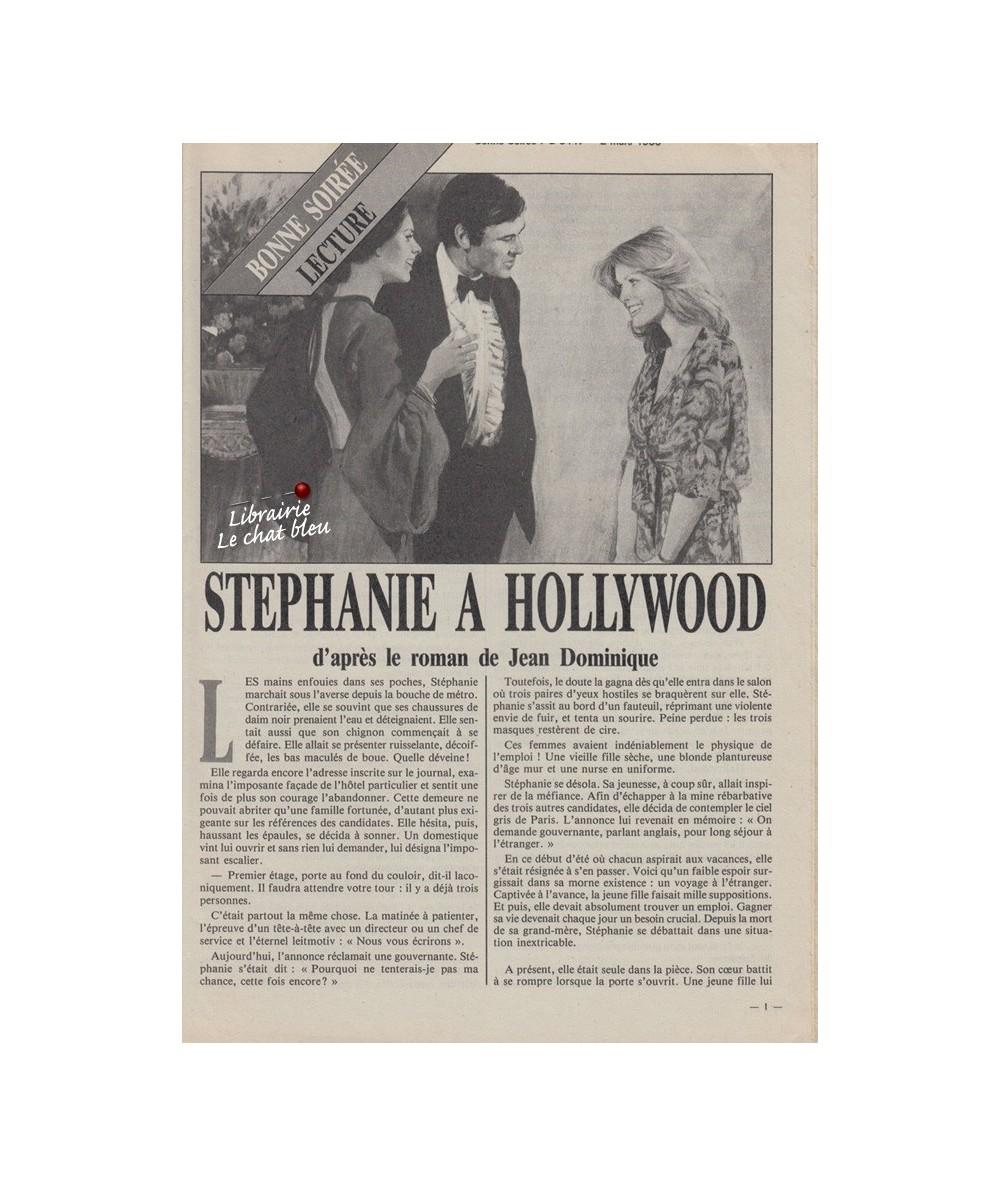 Stéphanie à Hollywood d'après le roman de Jean Dominique