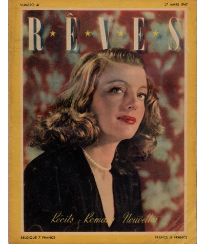 Hebdomadaire Rêves n° 41 paru le 27 mars 1947