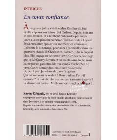 En toute confiance (Karen Robards) - J'ai lu N° 6567