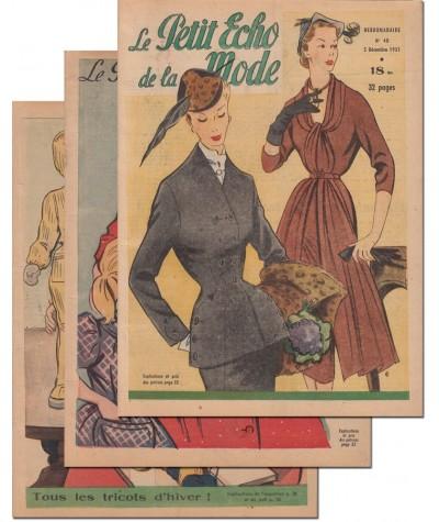 Le Petit Echo de la Mode N° 46, 47 et 48 - Année 1951