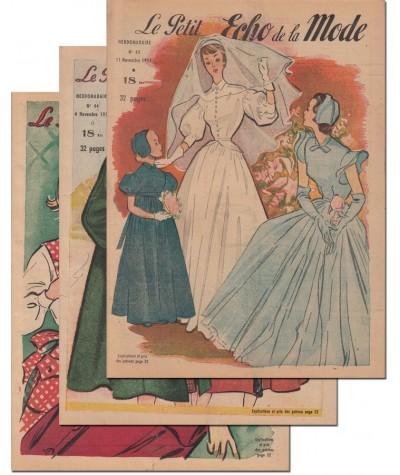 Le Petit Echo de la Mode N° 43, 44 et 45 - Année 1951