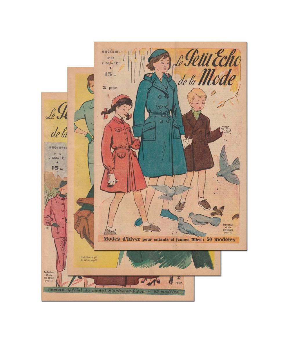 Le Petit Echo de la Mode N° 40, 41 et 42 - Année 1951
