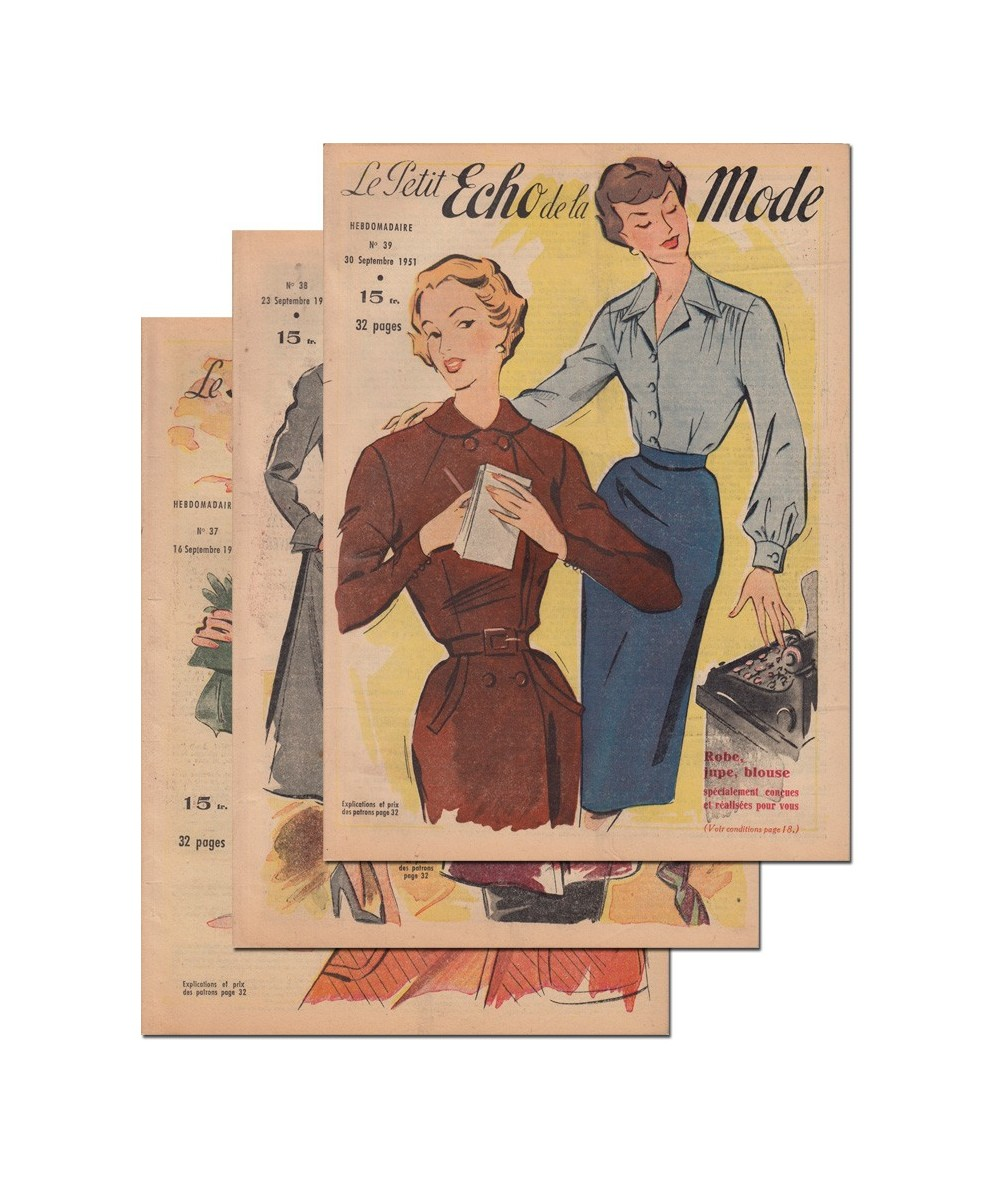 Le Petit Echo de la Mode N° 37, 38 et 39 - Année 1951
