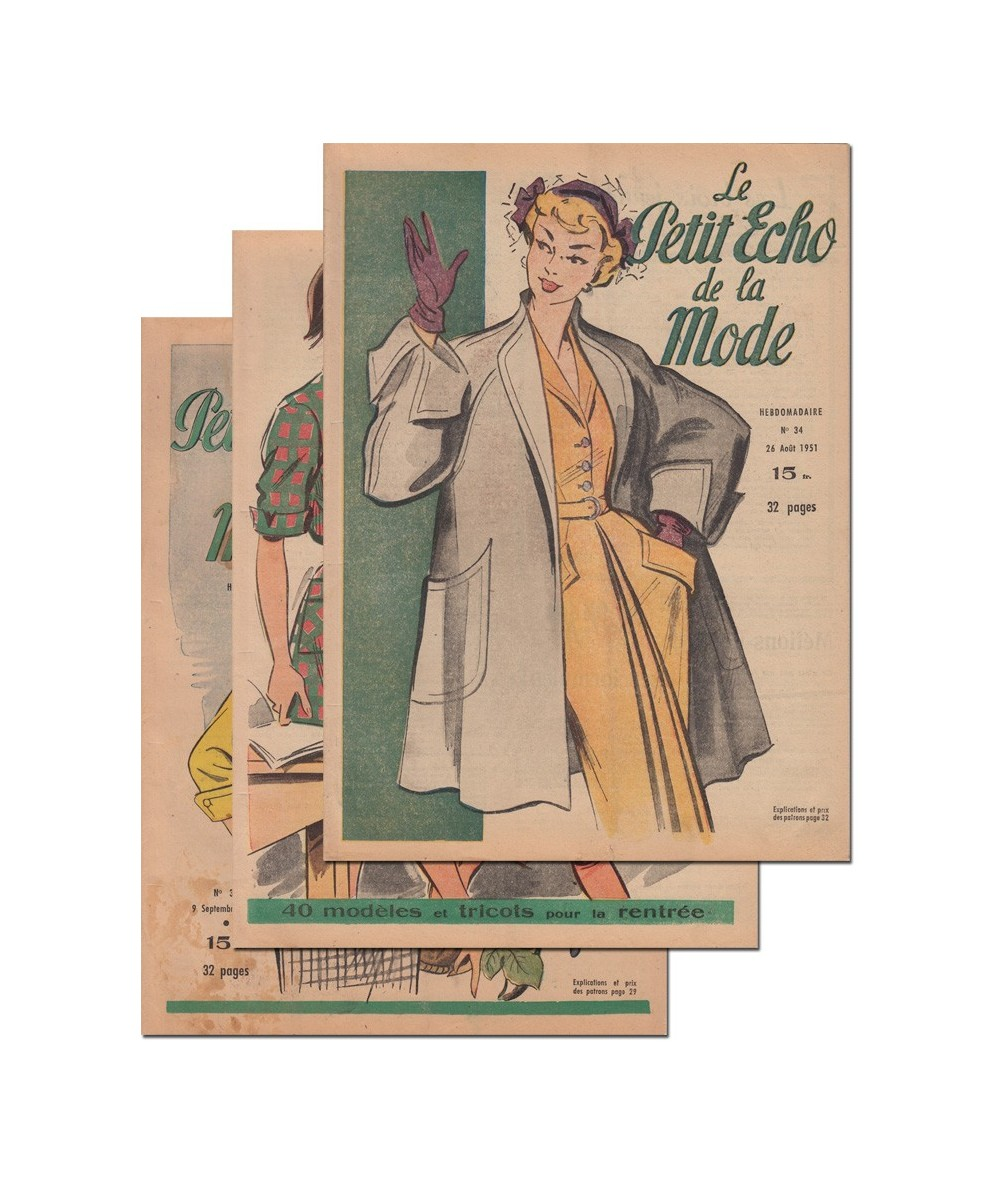 Le Petit Echo de la Mode N° 34, 35 et 36 - Année 1951