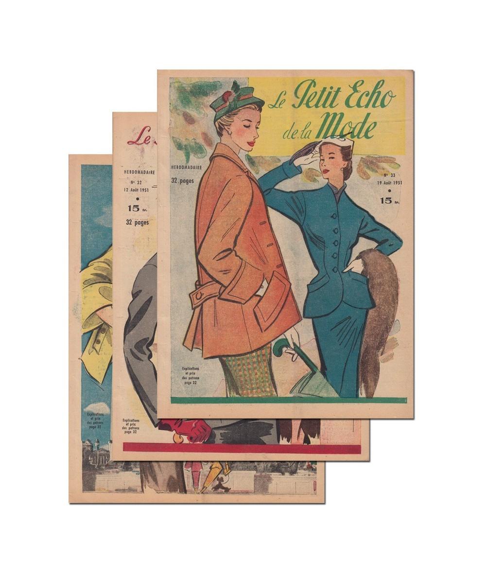 Le Petit Echo de la Mode N° 31, 32 et 33 - Année 1951