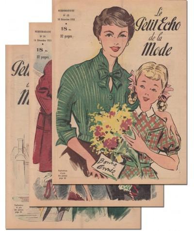 Le Petit Echo de la Mode N° 49, 50 et 52 - Année 1951