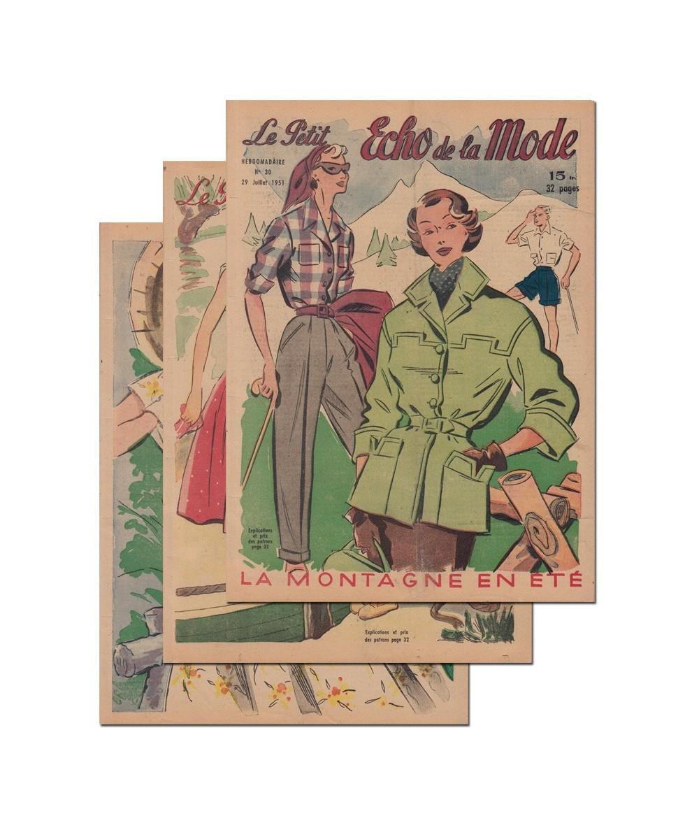 Le Petit Echo de la Mode N° 28, 29 et 30 - Année 1951