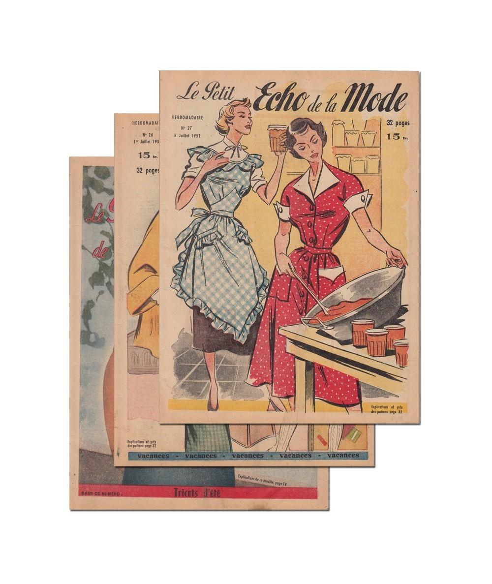 Le Petit Echo de la Mode N° 25, 26 et 27 - Année 1951