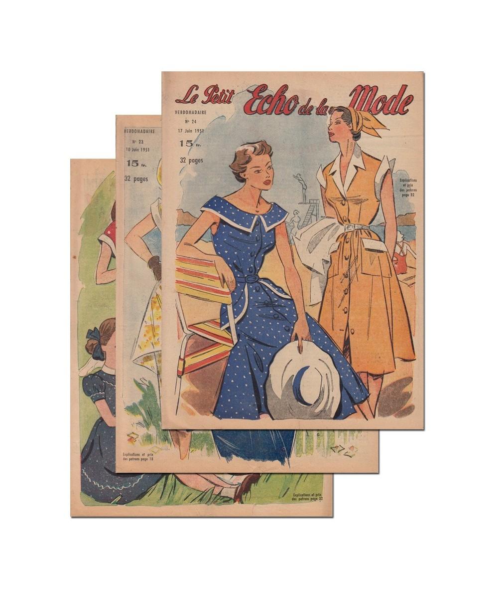 Le Petit Echo de la Mode N° 22, 23 et 24 - Année 1951