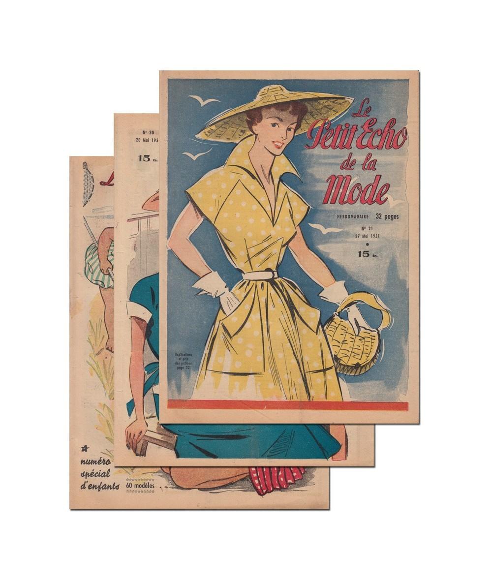 Le Petit Echo de la Mode N° 19, 20 et 21 - Année 1951
