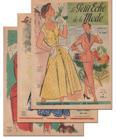 Le Petit Echo de la Mode N° 16, 17 et 18 - Année 1951