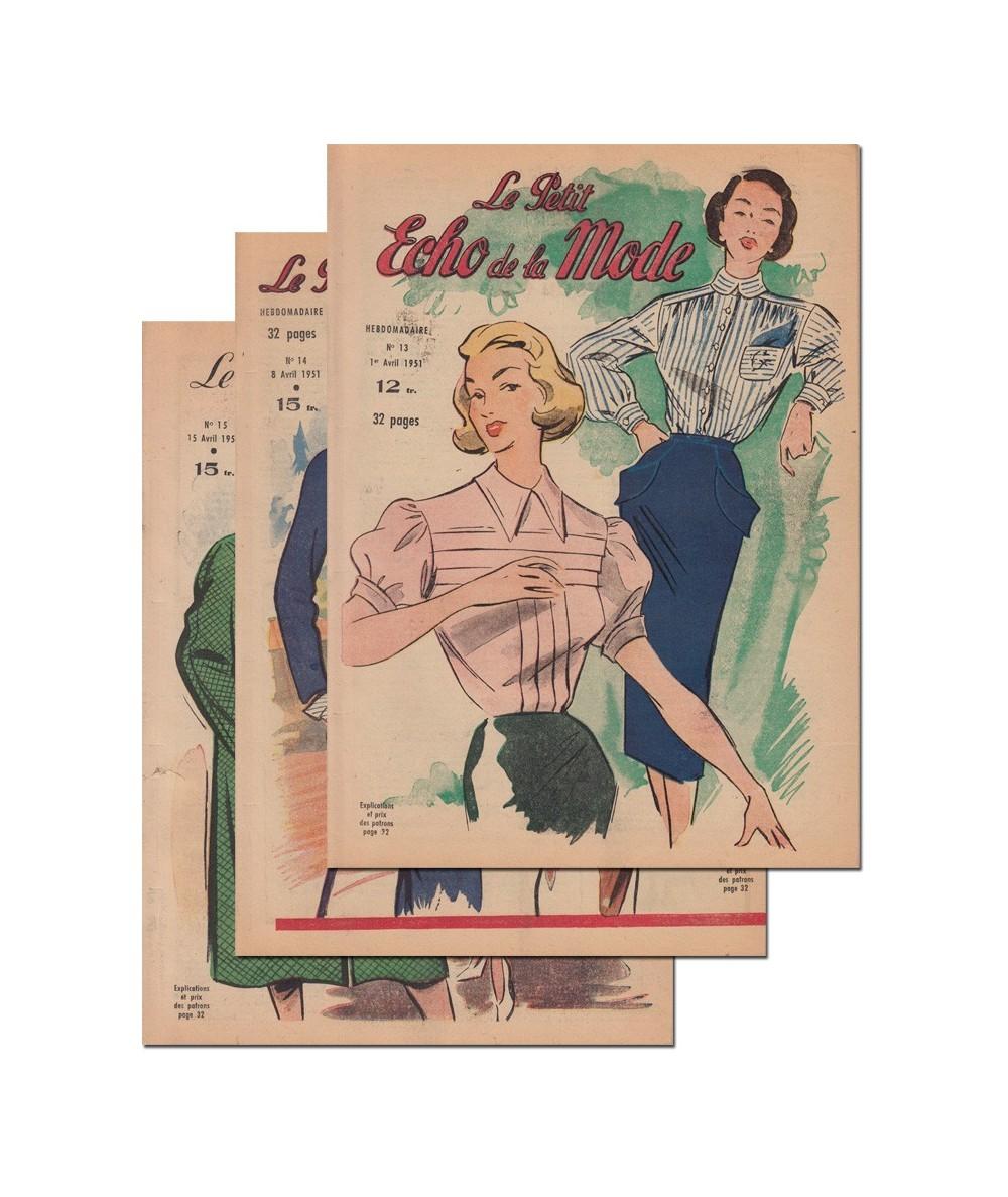 Le Petit Echo de la Mode N° 13, 14 et 15 - Année 1951