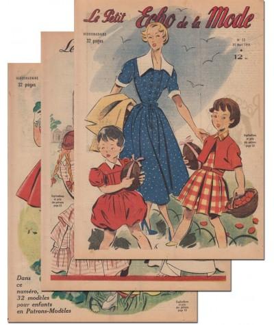 Le Petit Echo de la Mode N° 10, 11 et 12 - Année 1951