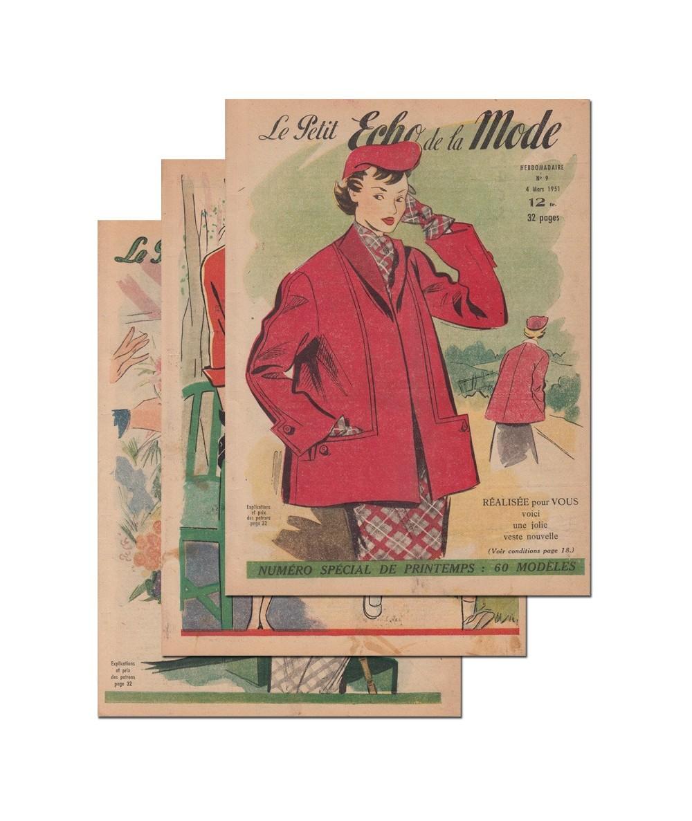 Le Petit Echo de la Mode N° 7, 8 et 9 - Année 1951
