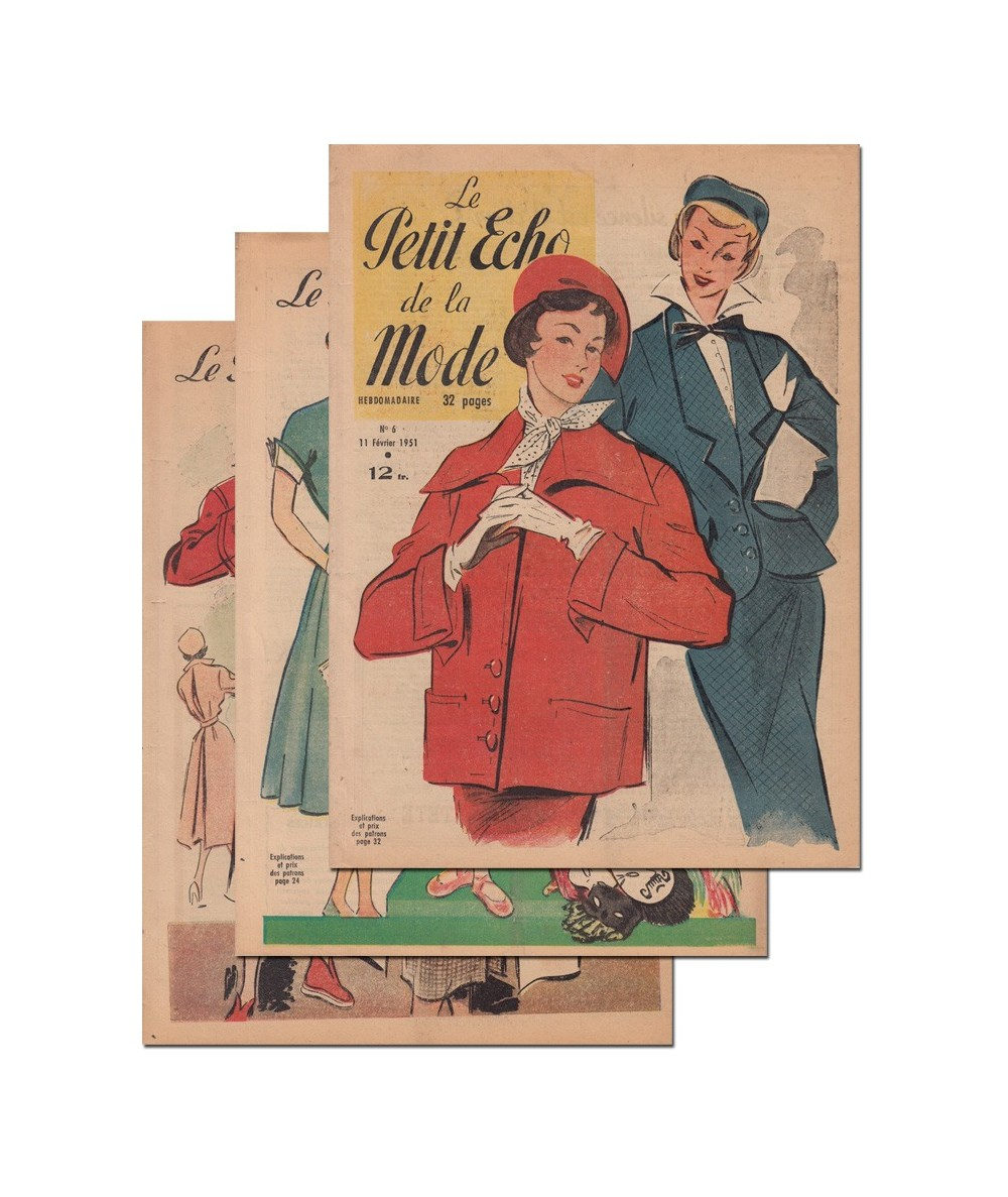 Le Petit Echo de la Mode N° 4, 5 et 6 - Année 1951