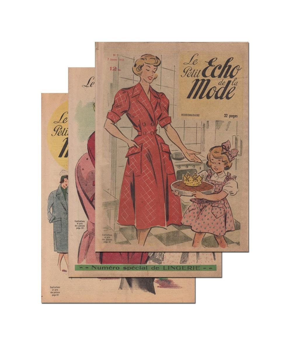 Le Petit Echo de la Mode N° 1, 2 et 3 - Année 1951