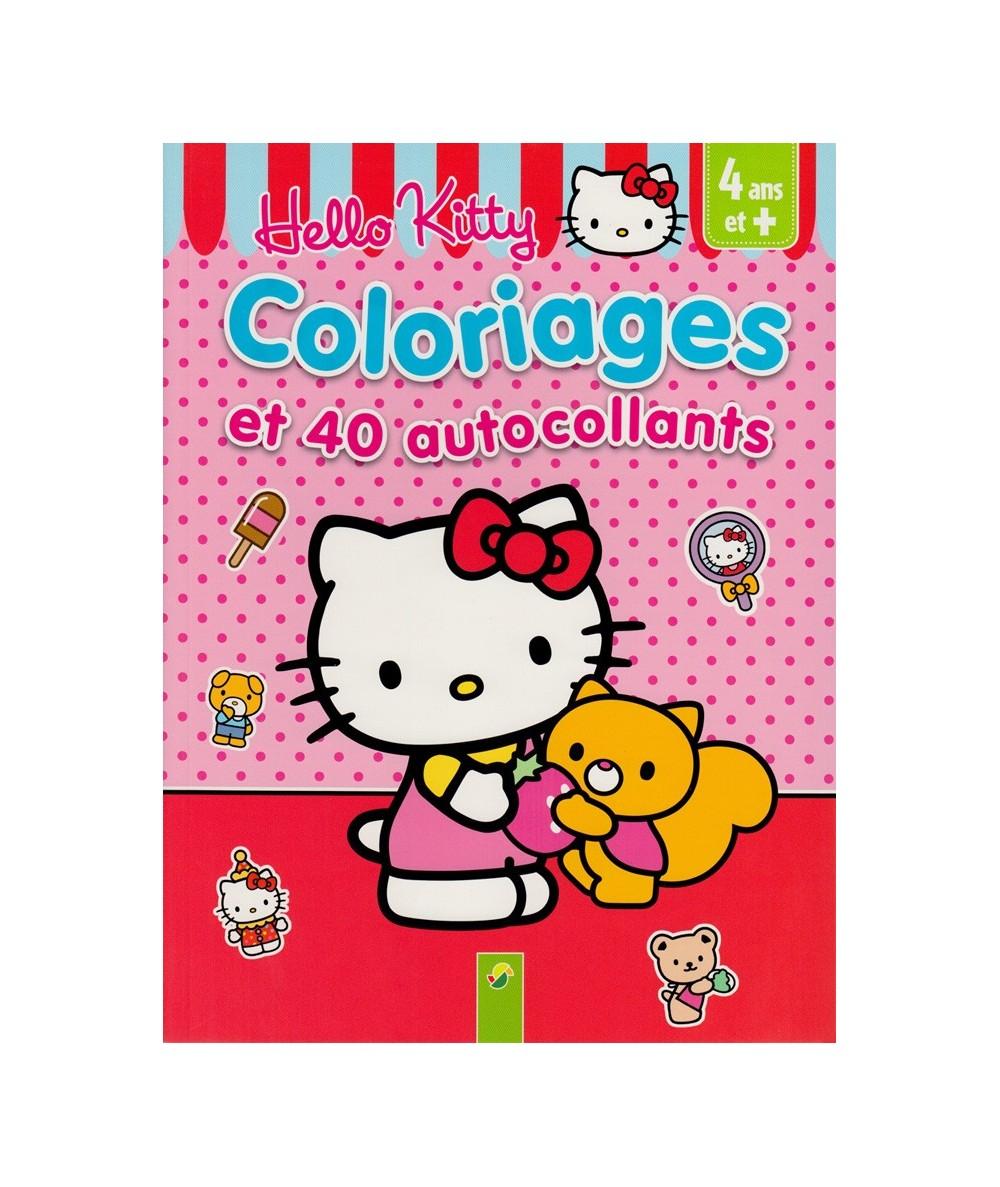 Hello Kitty : Coloriages et 40 autocollants