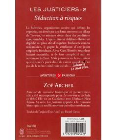 Les justiciers T2 : Séduction à risques (Zoé Archer) - J'ai lu N° 11062