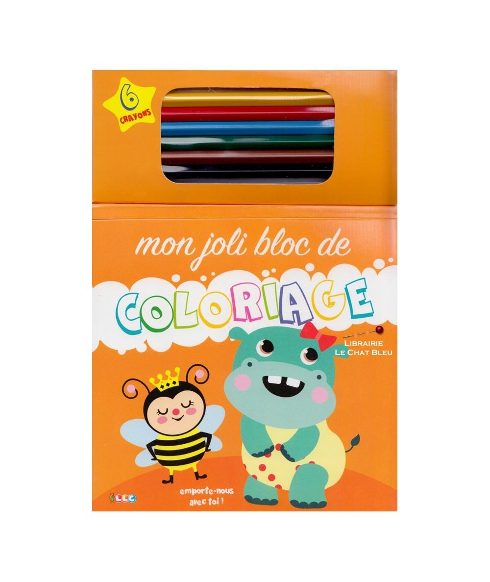 Mon joli bloc de coloriage + 6 crayons de couleur
