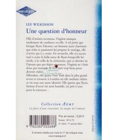 Une question d'honneur (Lee Wilkinson) - Harlequin Azur N° 2364
