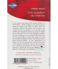 Une question de charme (Carol Finch) - Rouge Passion N° 1154