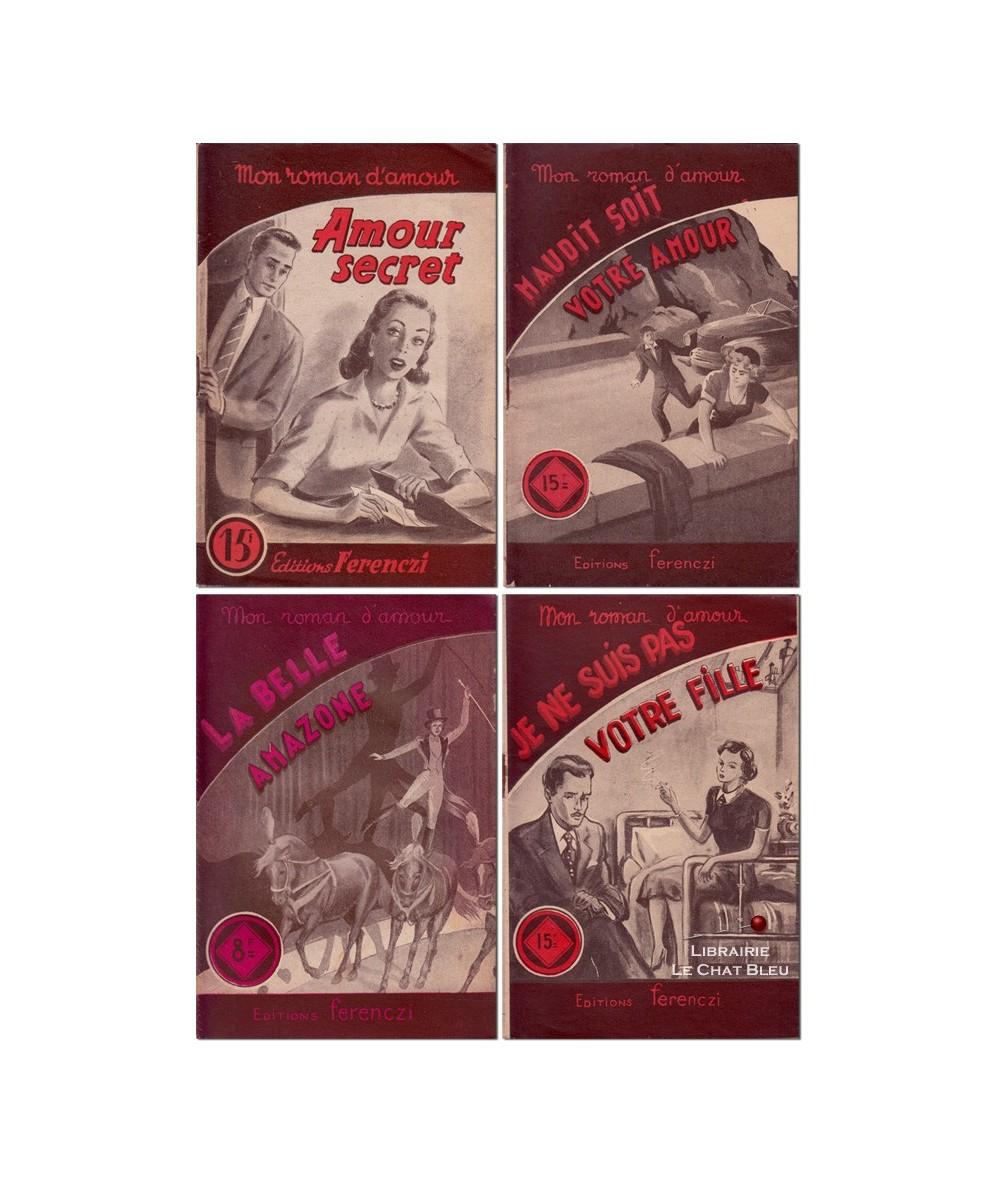 Lot de 4 livres : Ellen Vaison - René Poupon - Jean Laurent - Alex Peck
