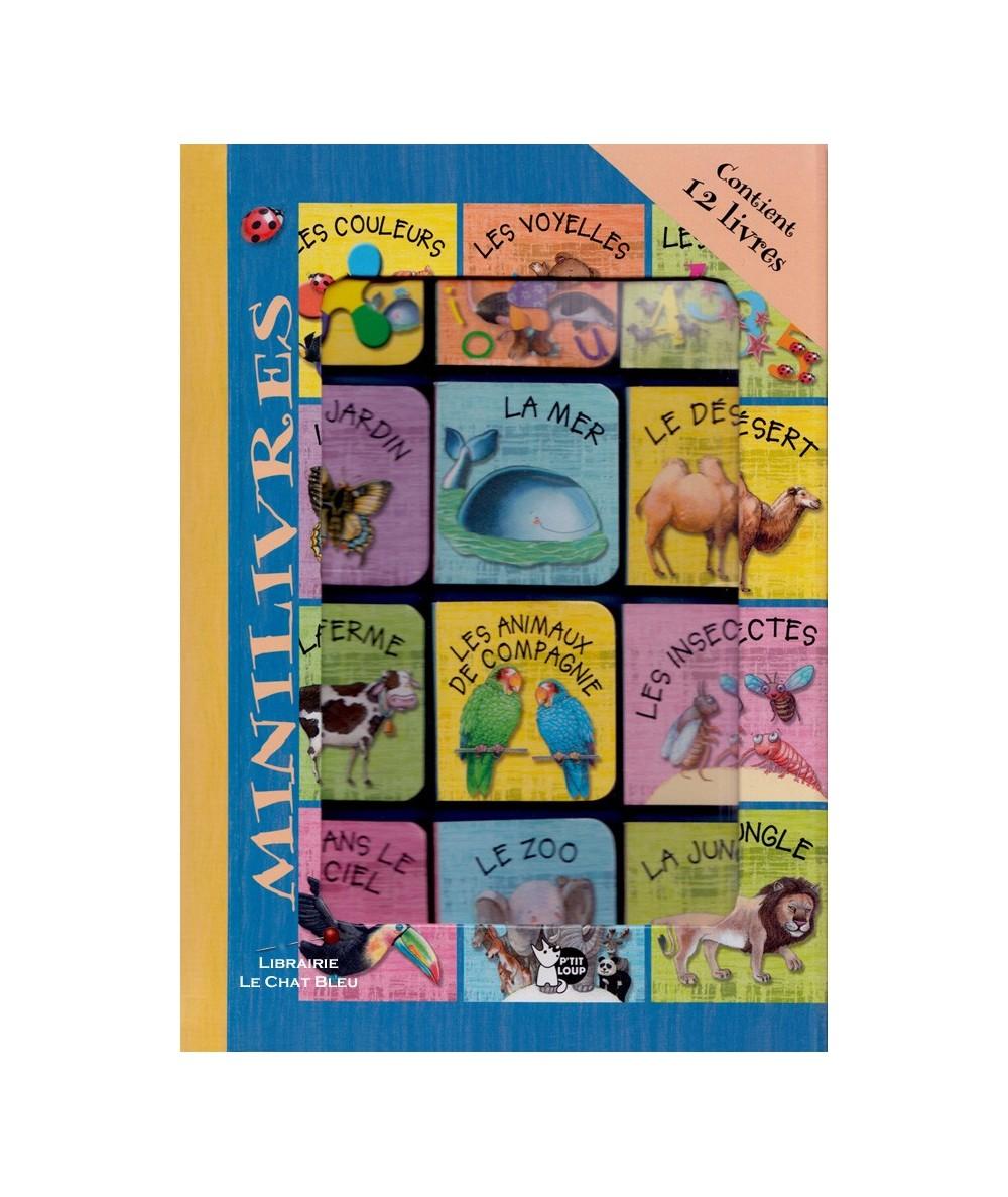Coffret de 12 mini-livres tout-carton pour découvrir les animaux