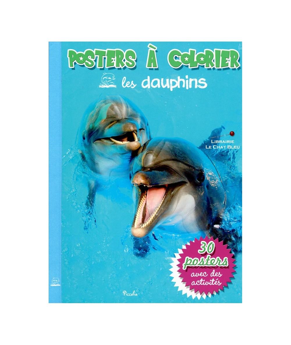 Posters à colorier : Les dauphins