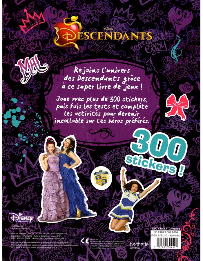 Descendants Walt Disney 300 Stickers
