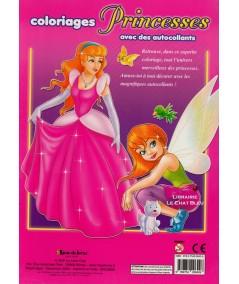 Coloriages : les Princesses - Avec des autocollants