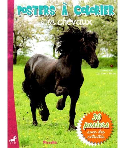 Posters à colorier : Les chevaux