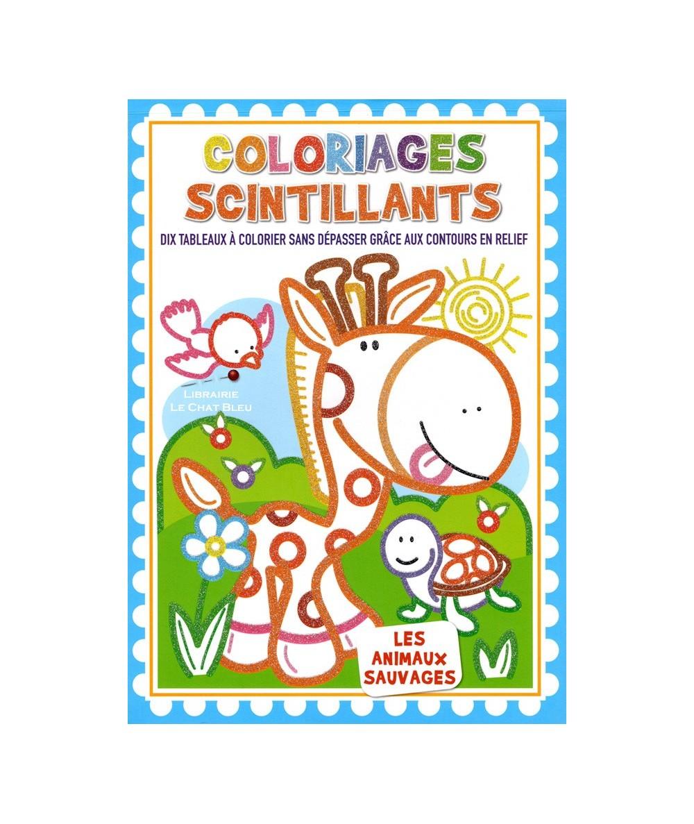 Coloriages scintillants : Les animaux sauvages