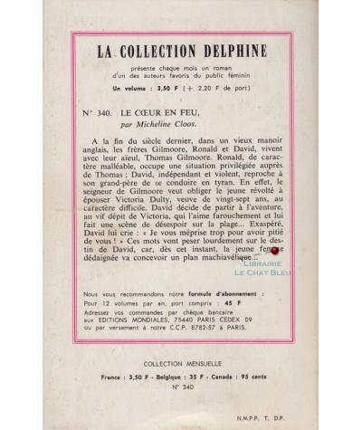 Le coeur en feu (Micheline Cloos) - Delphine N° 340