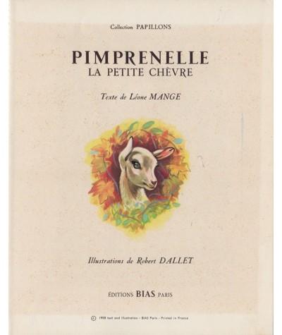 Pimprenelle, la petite chèvre (Léone Mange, Robert Dallet)