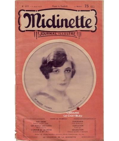 Journal illustré Midinette n° 177 du 4 avril 1930 - Melle Paulette Marinier en couverture