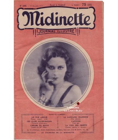 Journal illustré Midinette n° 266 du 18 décembre 1931 - Melle Renée Veller en couverture